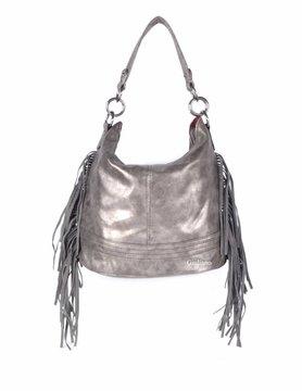 Artificial leather handbag Frills