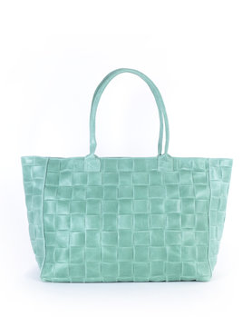Leather shopper wide braided