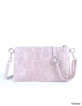 Suede croco clutch |  shoulderbag - Braided
