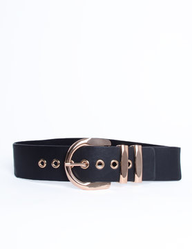 Belt with  gold buckle
