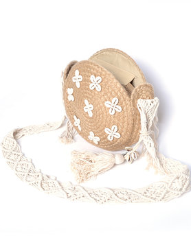 Cotton shoulderbag round shell
