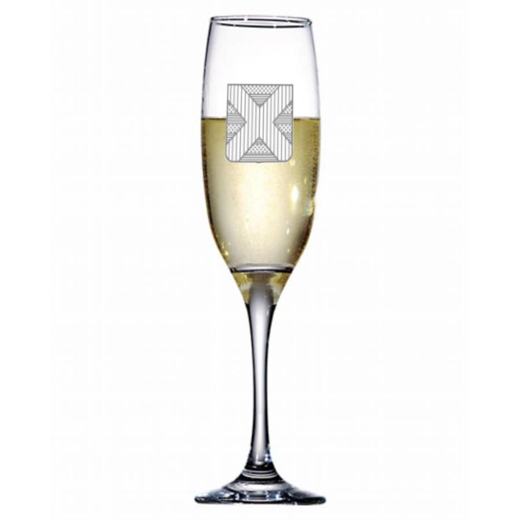 Champagneglas Venue met logo