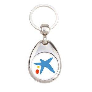 Porte-clés ovale métal