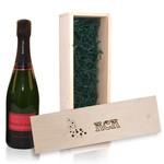 Caisse en bois avec Champagne