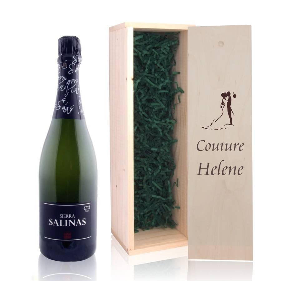 Wonderbaar Cava in houten kist | Logo graveren in houten wijnkist - Givanto HR-17