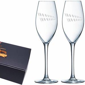 Champagneglazen cadeauset Da Vinci