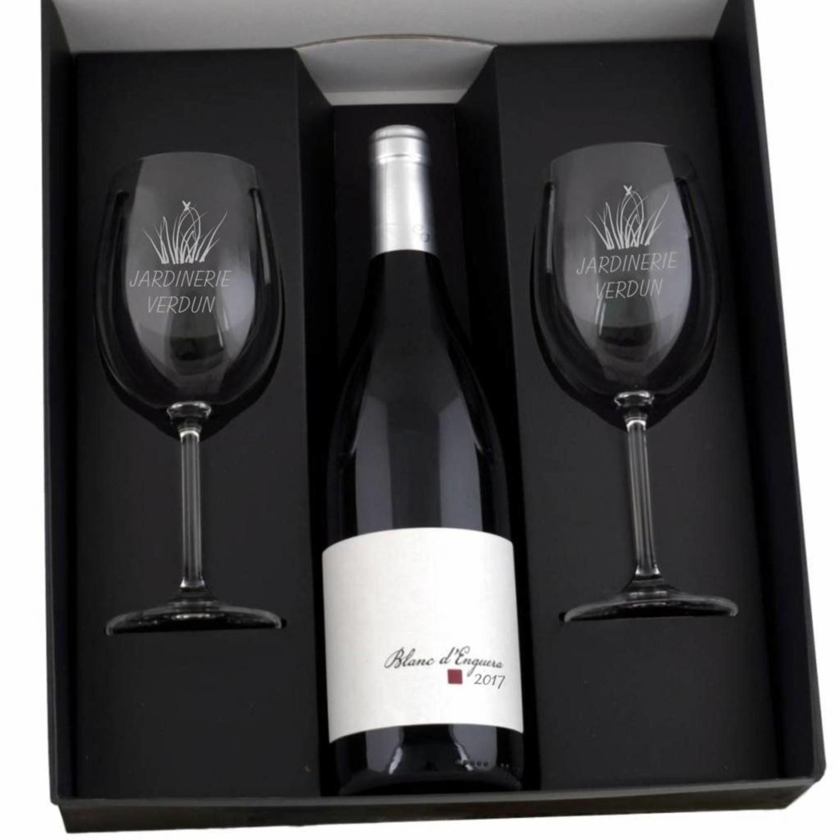Witte wijn cadeau set Le cave
