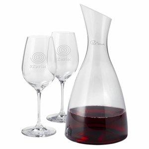 Paul Bocuse Décanteur Prestige avec deux verres de vin