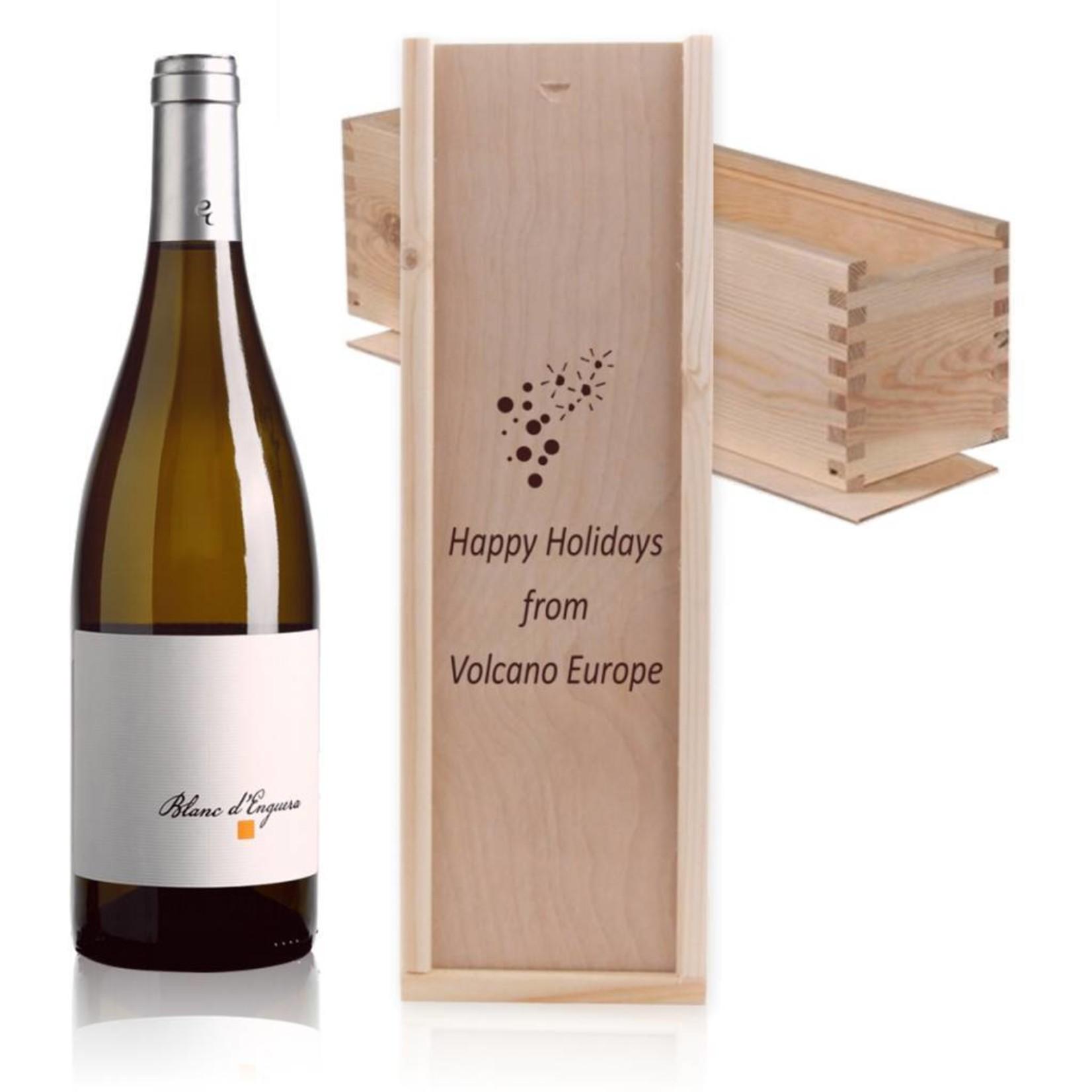 Houten wijnkist met schuifdeksel