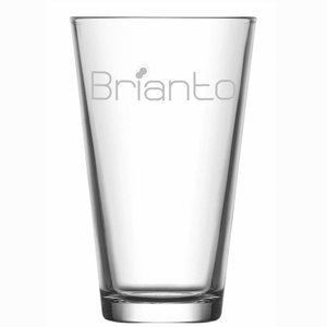 Waterglas Conic met gravering logo