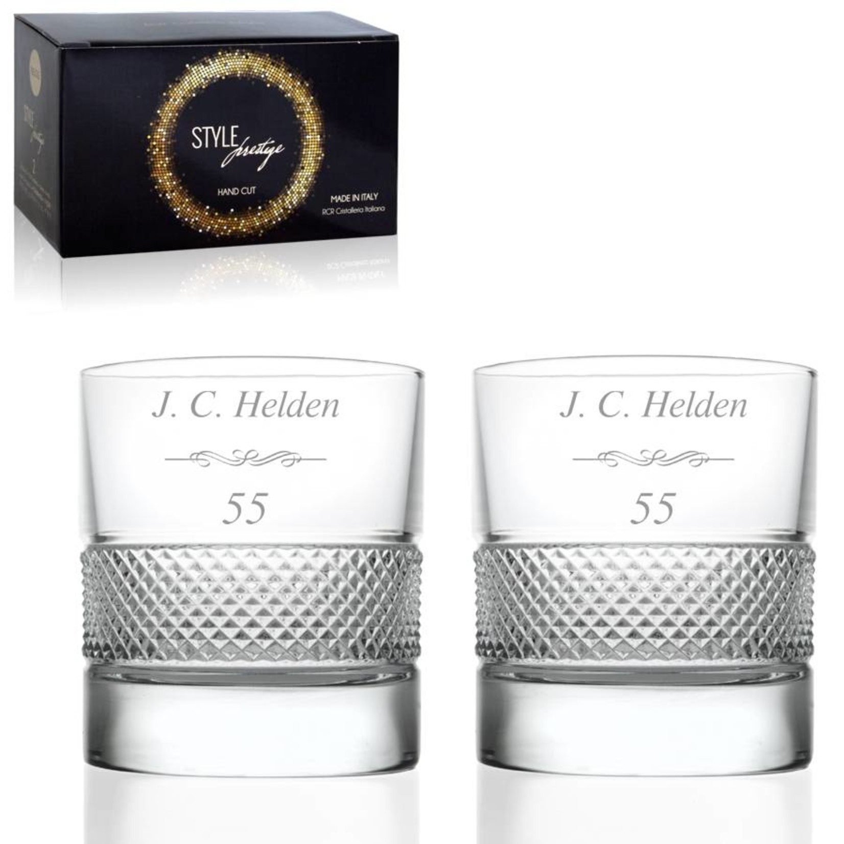 Whiskyglazen Set Prestigio met logo