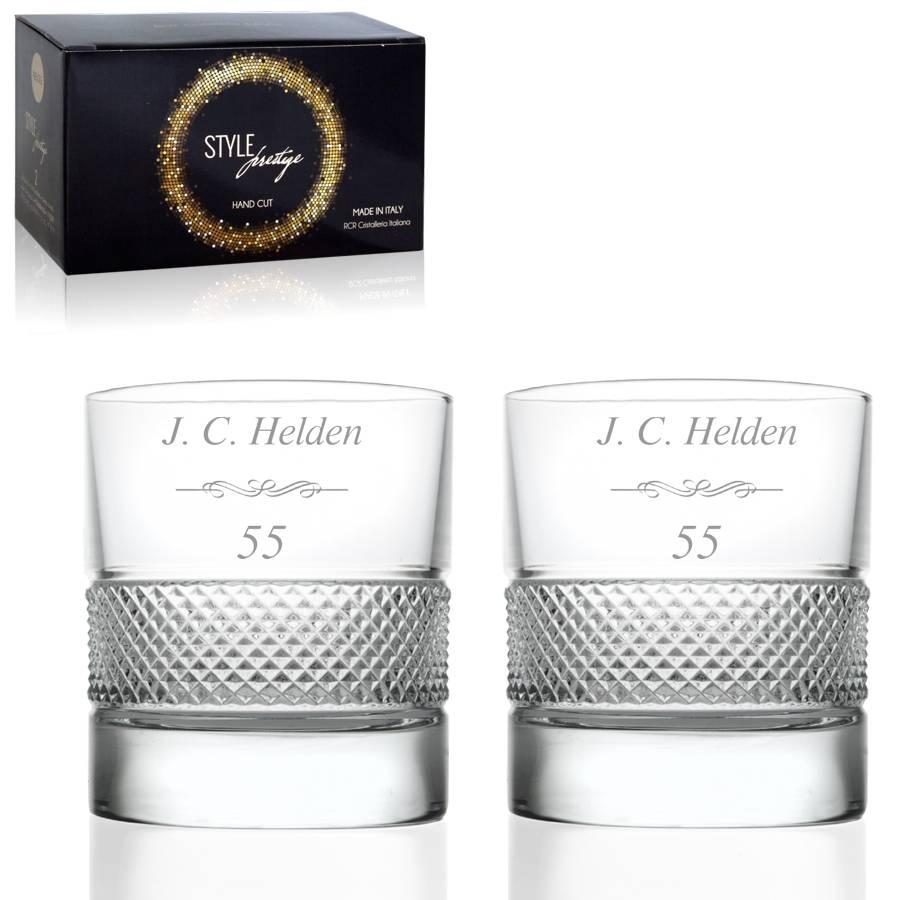 Set Kristallen Whiskyglazen Prestigio Relatie Cadeau Deluxe