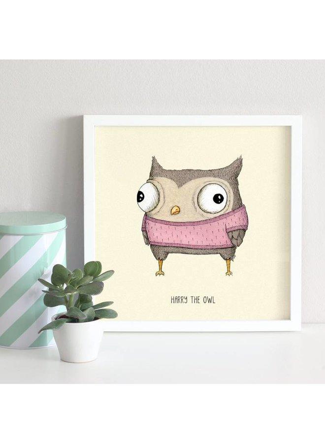 children's poster owl Harry