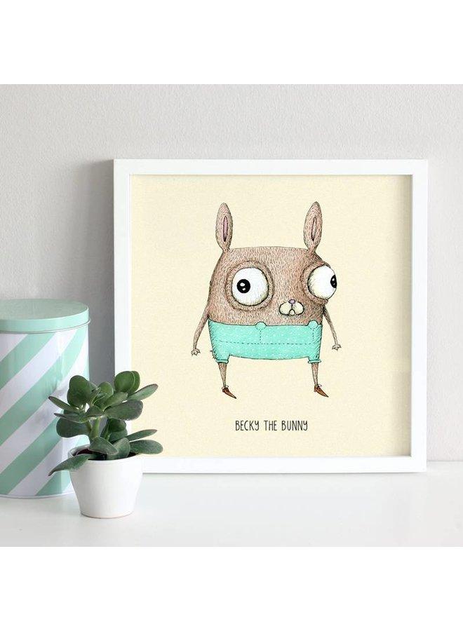 poster konijn Becky