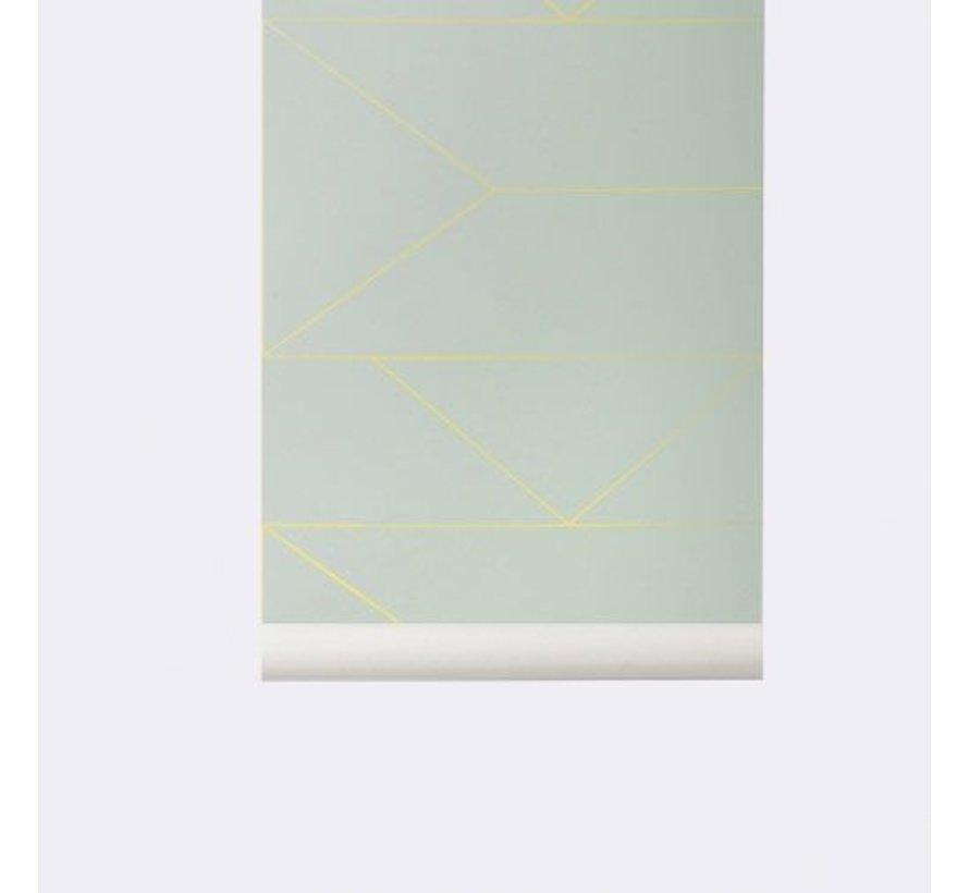 behang Lines Mint #170