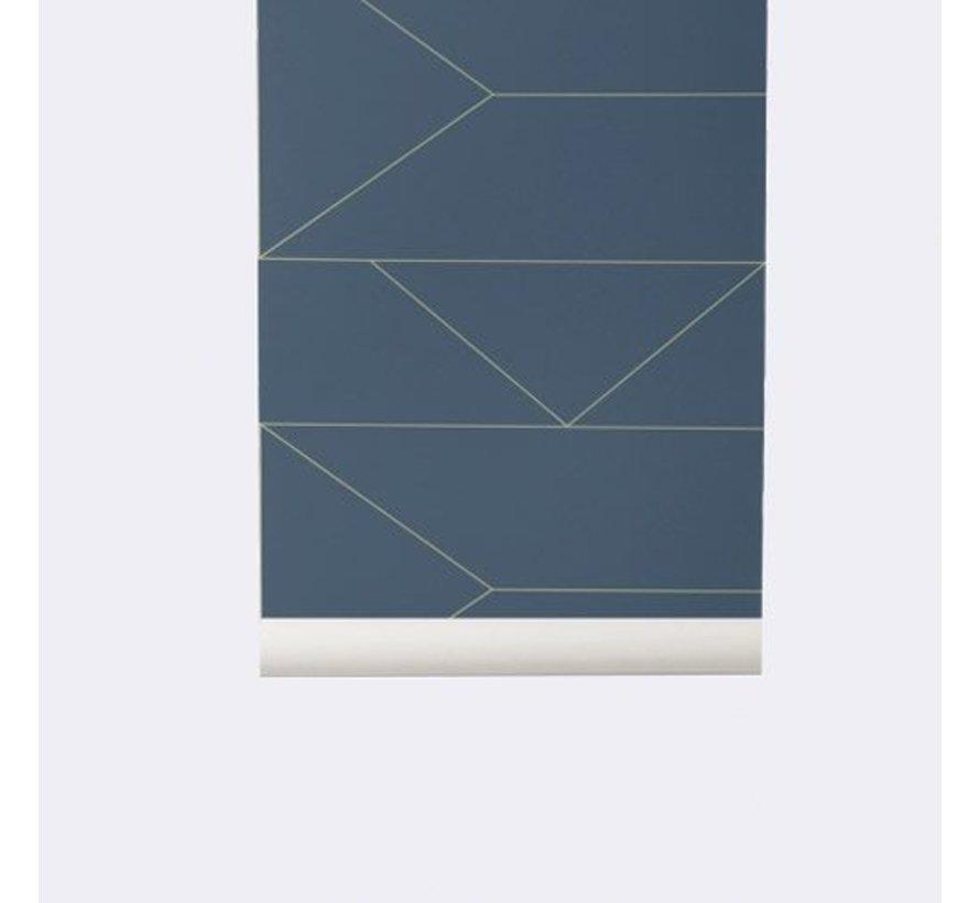 dark blue lines behang #171