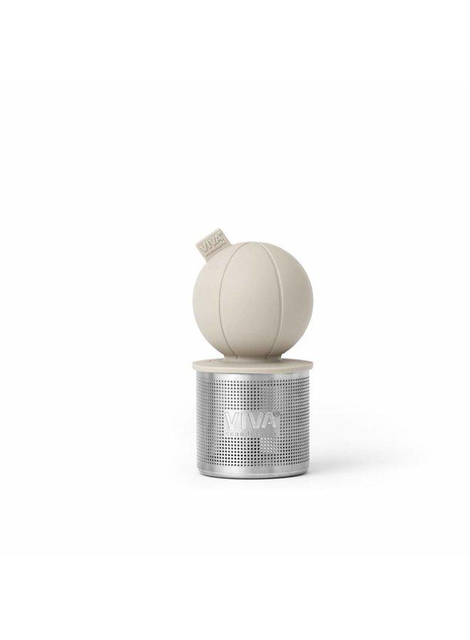 floating tea infuser sand/beige