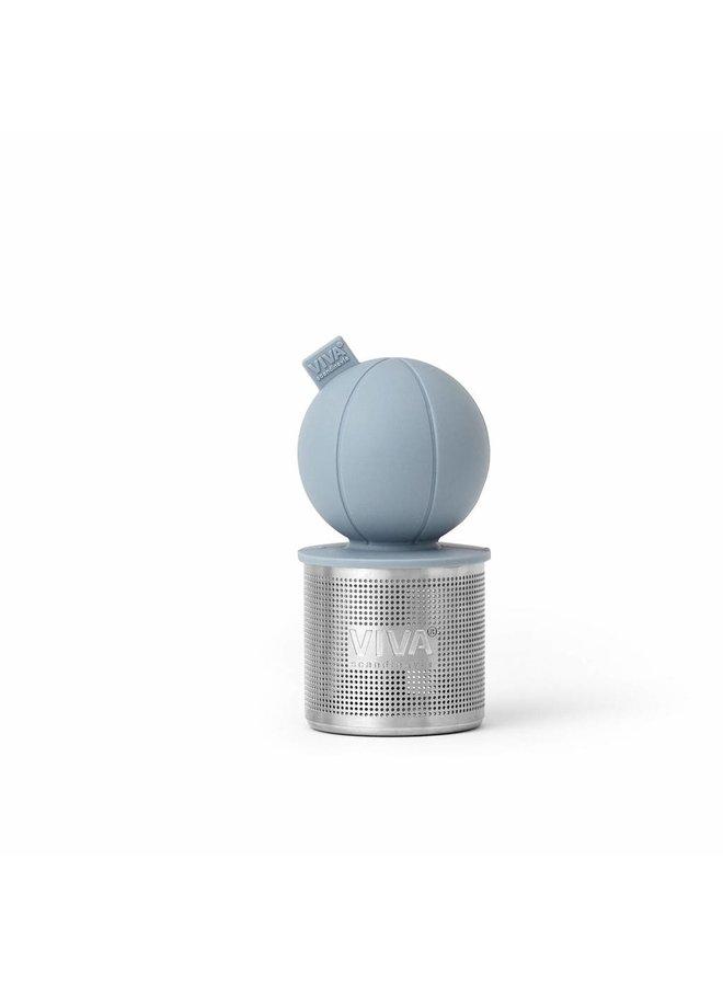 floating tea infuser blue/grey