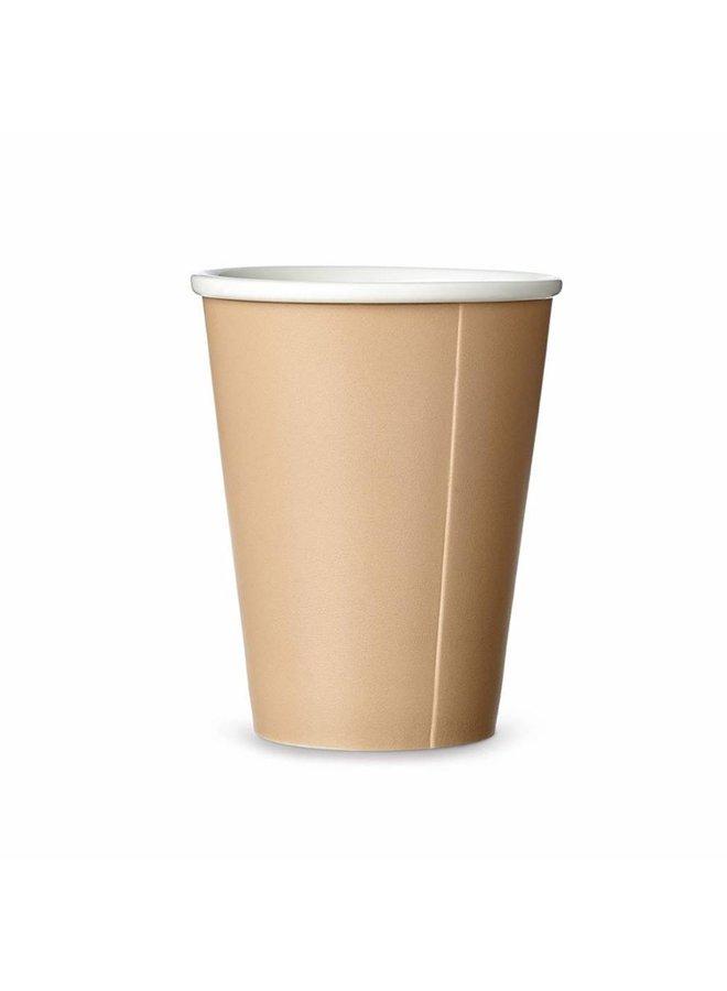 porselain tea mug Papercup sand/beige