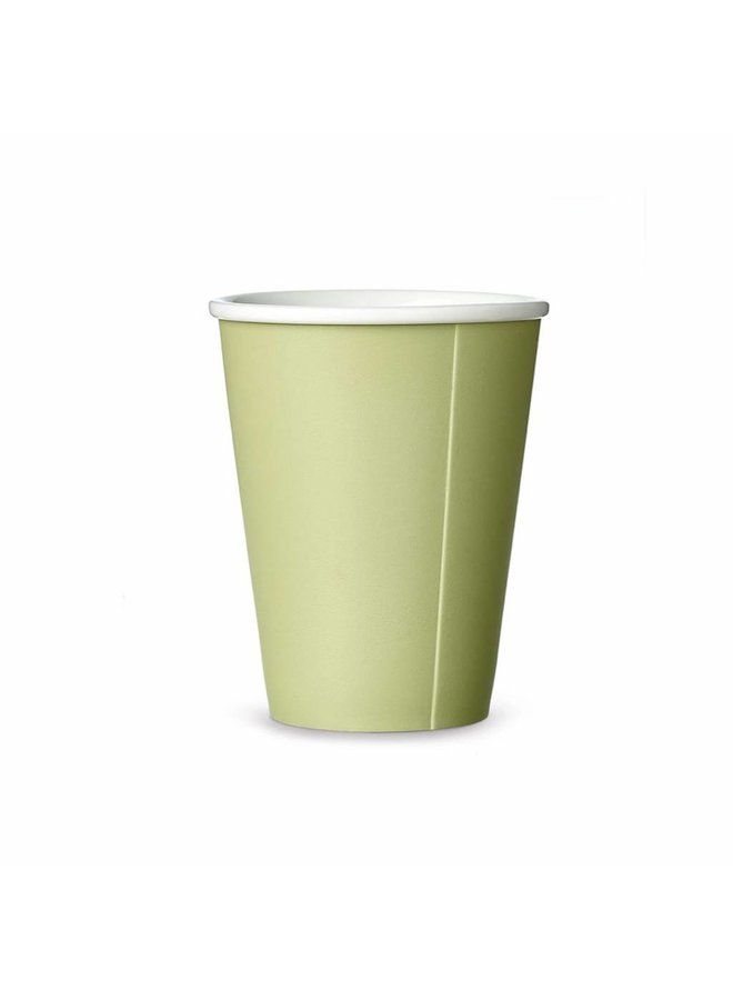 porselain tea mug Papercup green