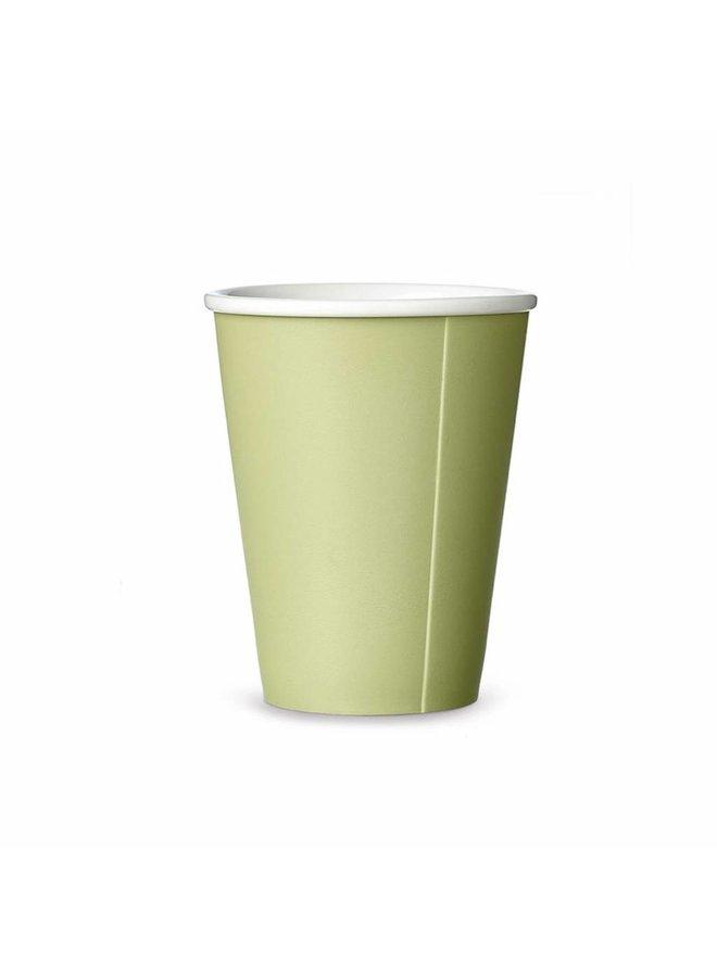 Viva Scandinavia porselain tea mug Papercup green