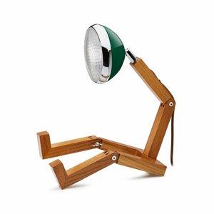 Mr Wattson lamp met groene lampenkap