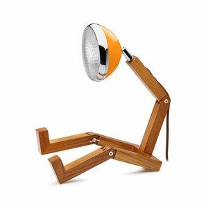 Mr Wattson lamp met oranje lampenkap
