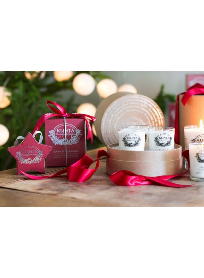 gift box three Christmas scented candles