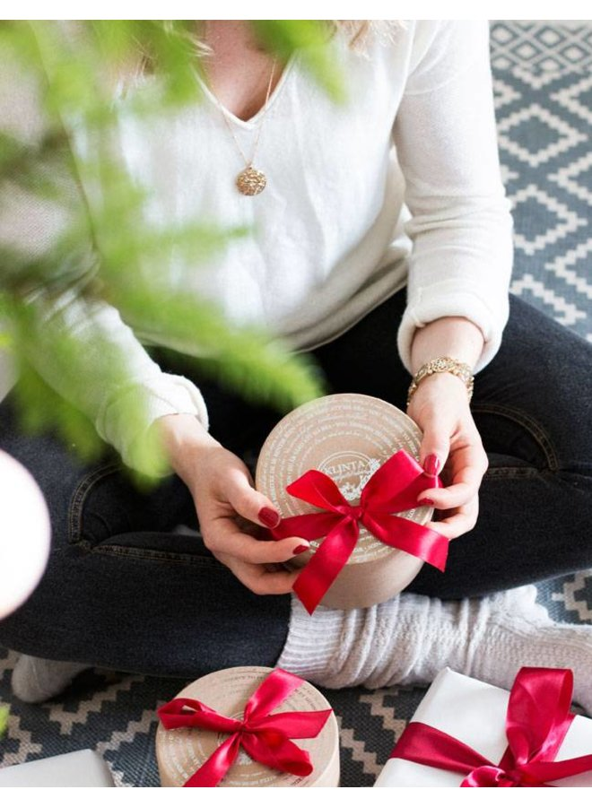 cadeaubox drie kerst geurkaarsen