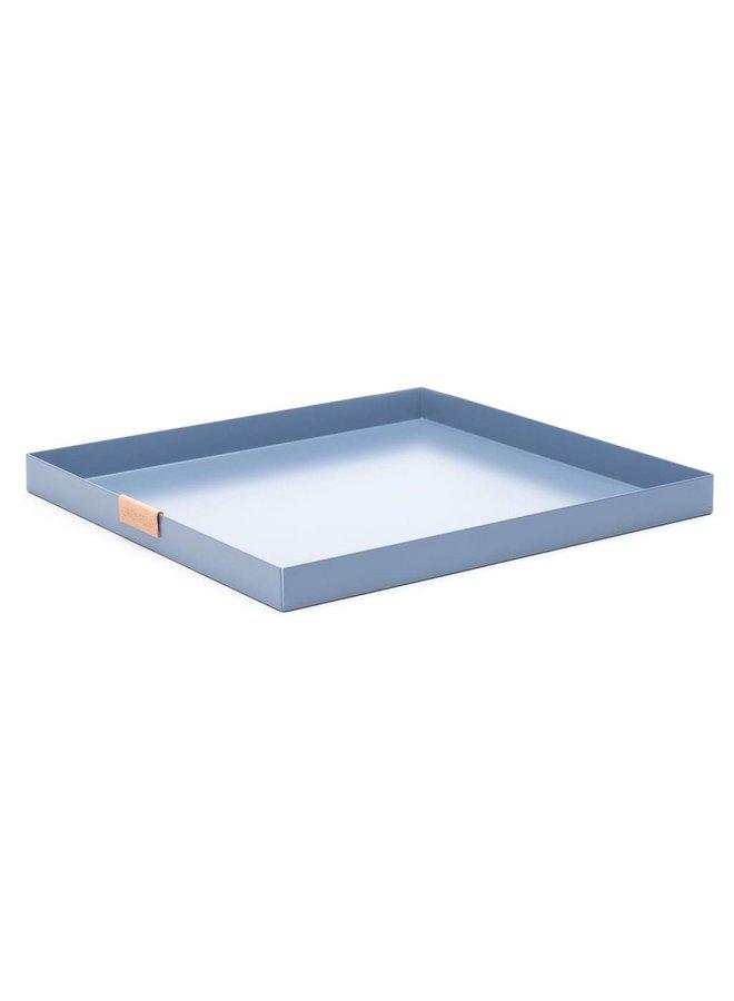 Grönfeld blaue Aluminium Tablett, Größe 30 x 30 cm
