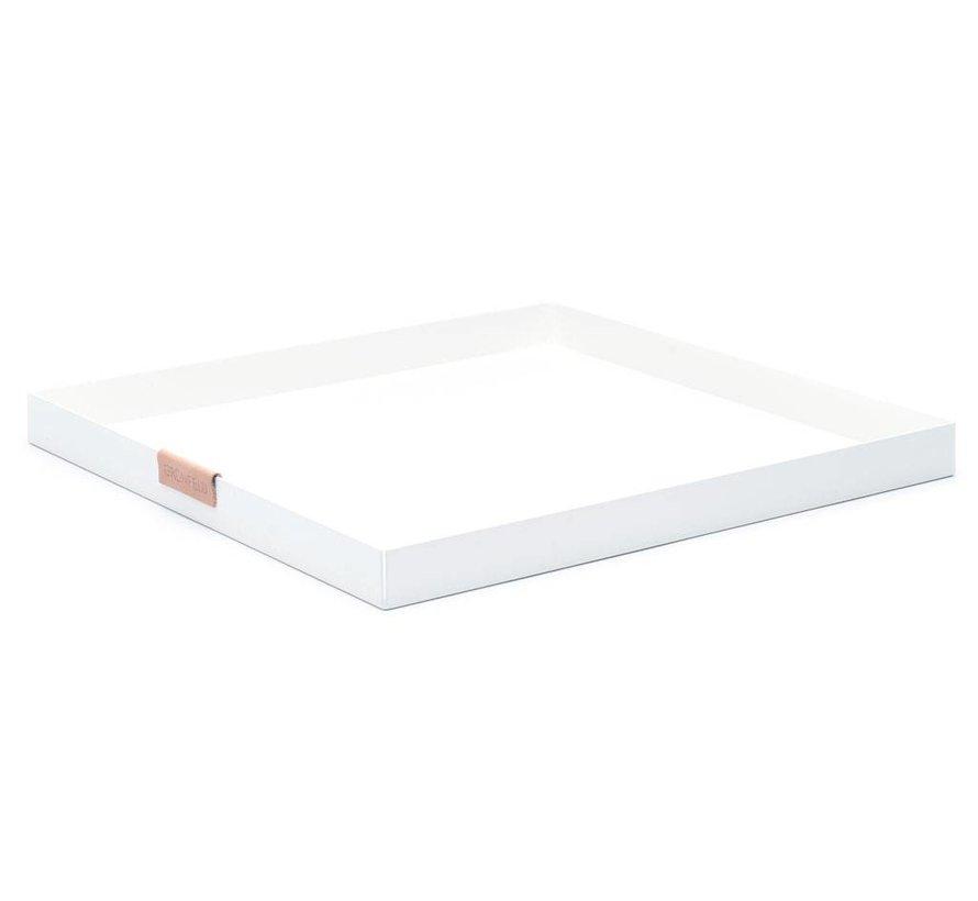 wit aluminium dienblad, afmeting 30 x 30 cm