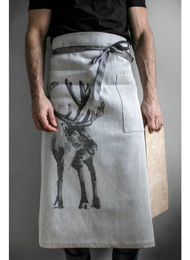 Lapuan Kankurit reindeer apron apron in linen and cotton
