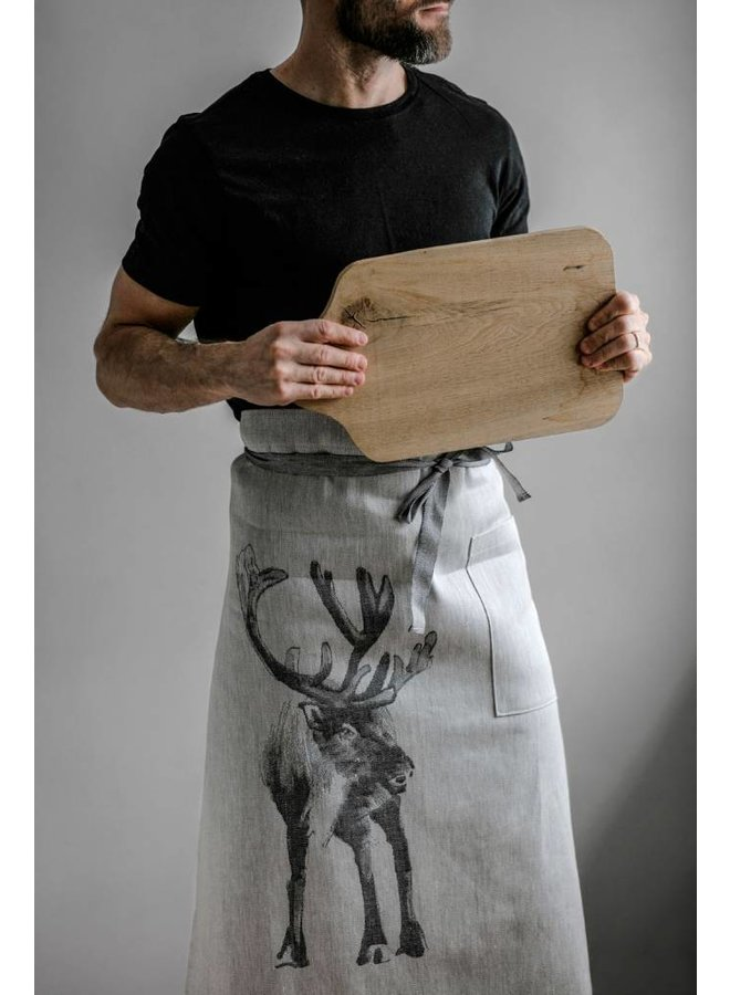 Reindeer apron apron in linen and cotton