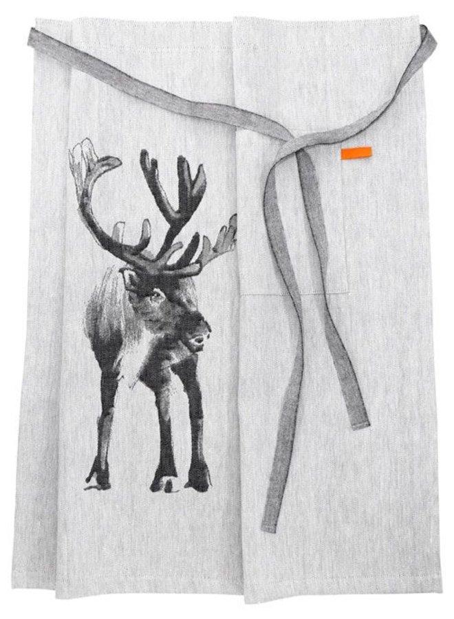 apron apron reindeer off white / black
