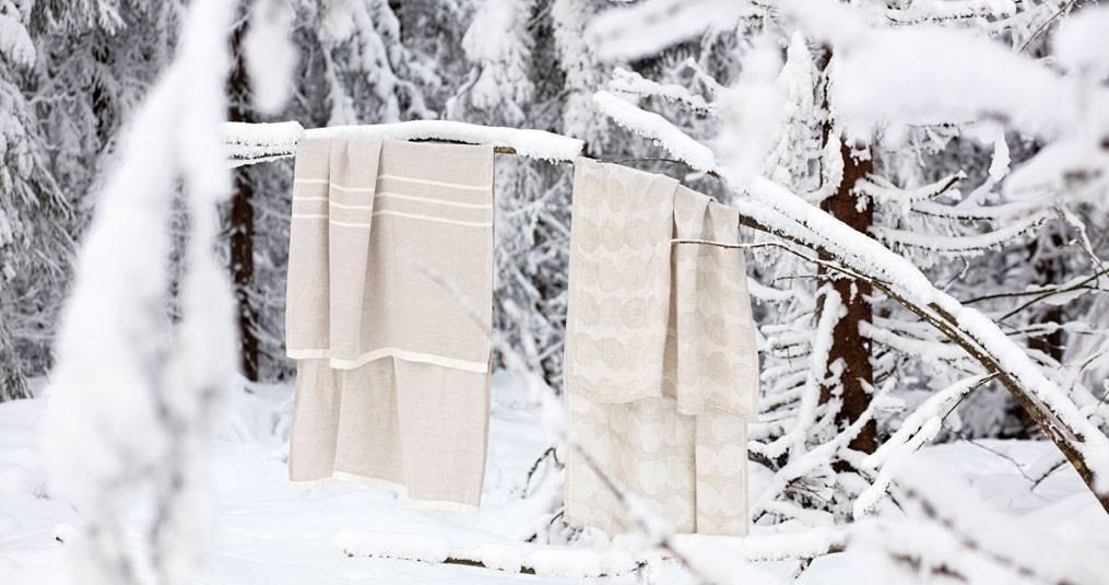 Maak je wollen dekens schoon met sneeuw!