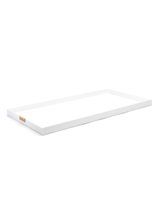 Grönfeld witte aluminium dienblad, afmeting 15 x 55 cm
