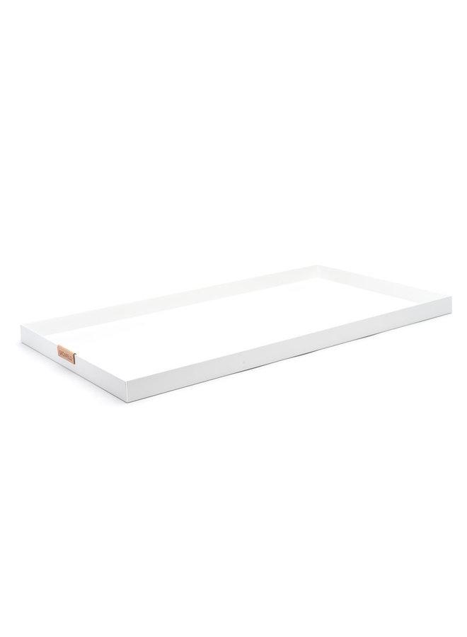 Tablett 15 x 55 cm weiß