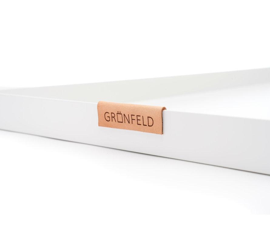 white aluminum tray, size 30 x 55 cm