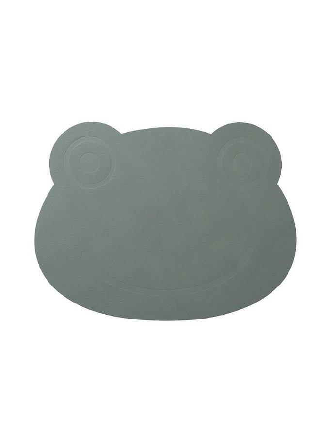 Leder Kinderplatzset Frosch in grün