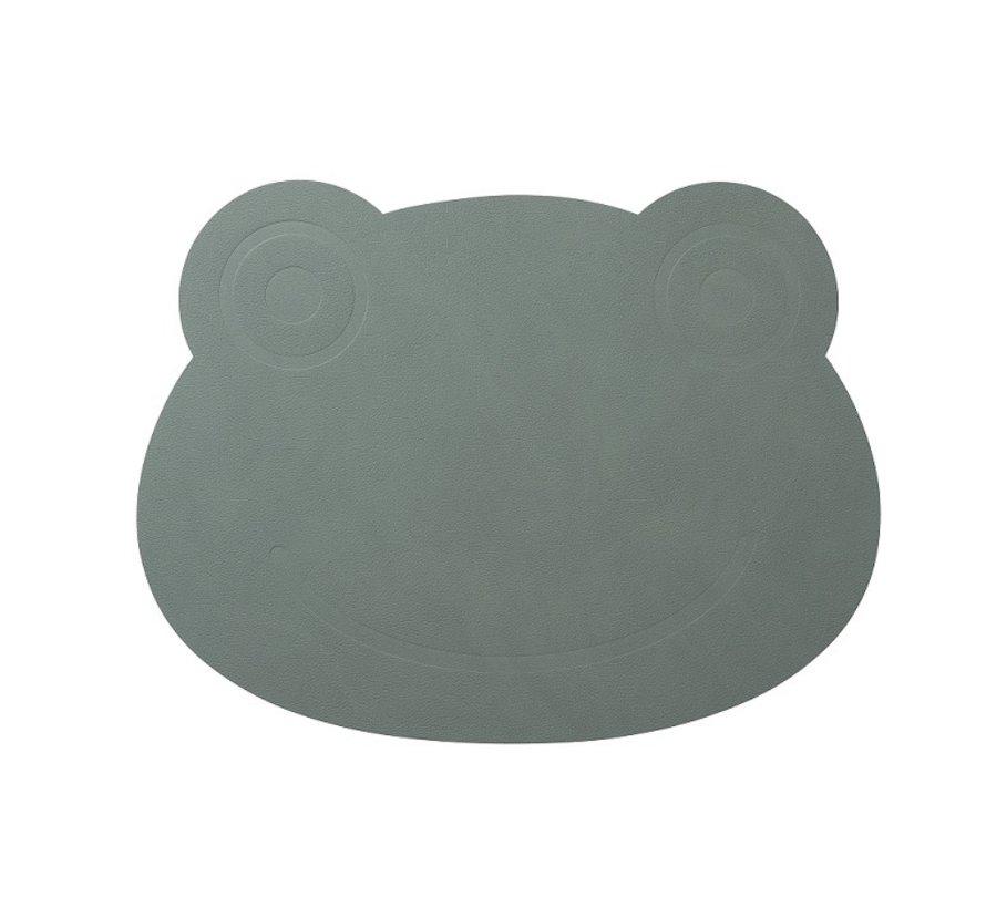 Kinderplatzset Frosch aus Leder, in grün