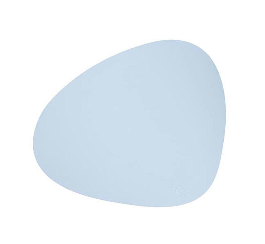 Platzset Curve L in Leder, sky blue