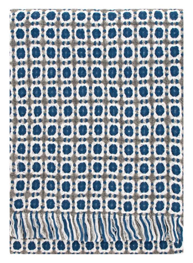 wollen deken blauw/grijs