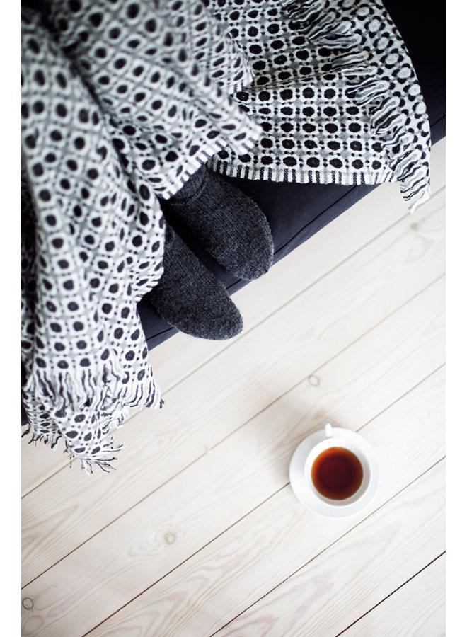 Lapuan Kankurit Corona soft wool blanket in blue / grey