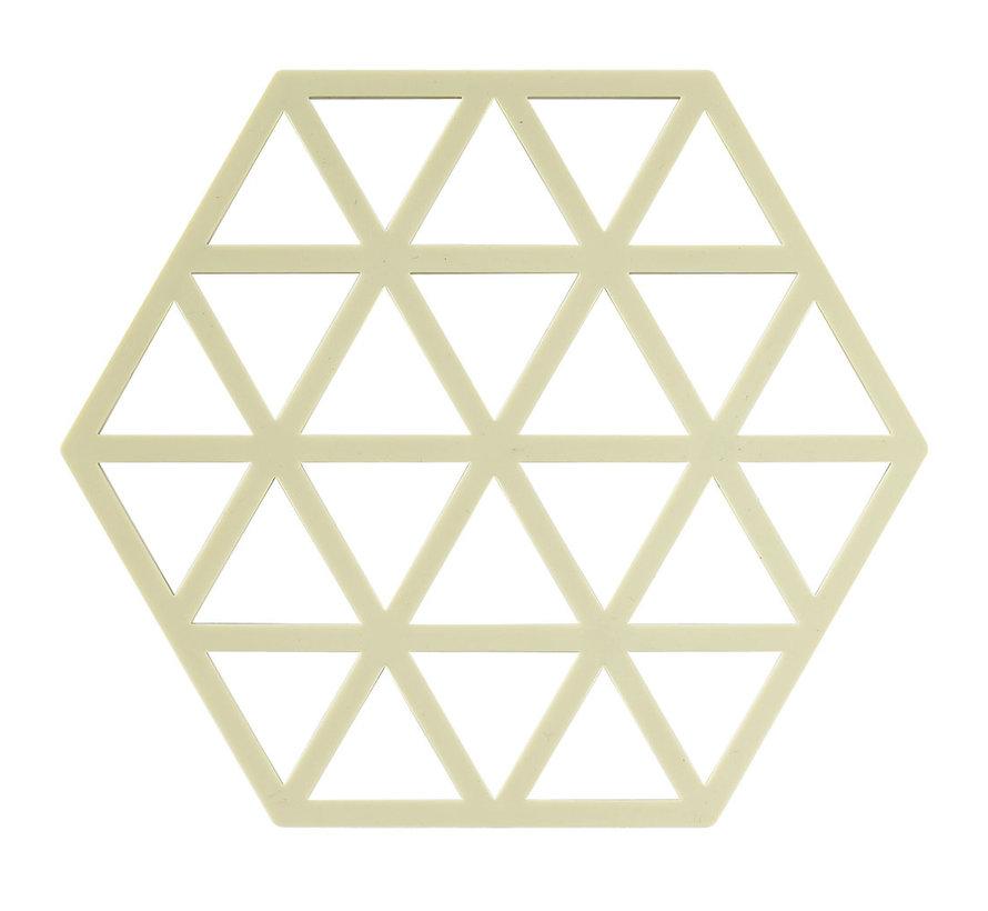 zeshoekige limoen kleur onderzetter Trivet
