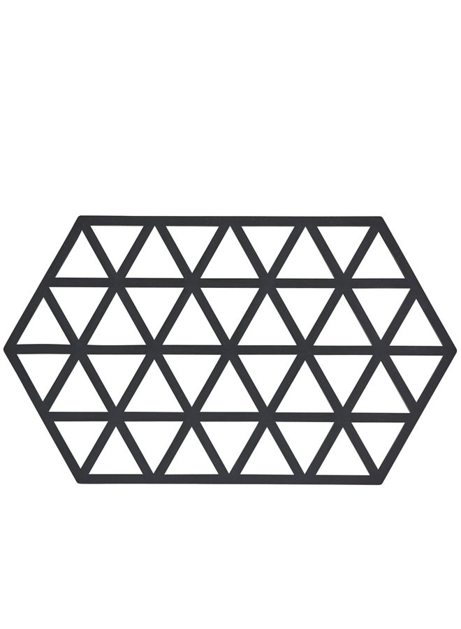 Triangle black coaster
