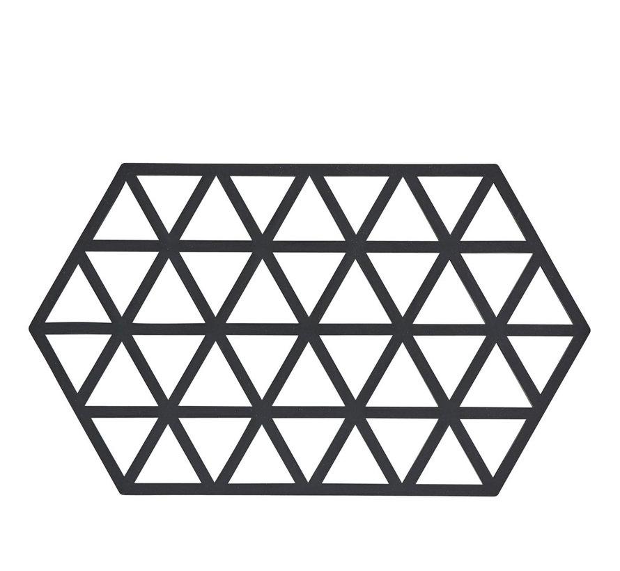 Sechseckiger schwarzer Untersetzer Triangle