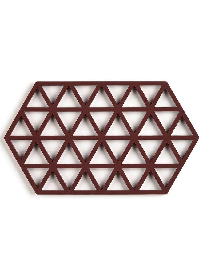 zeshoekige rozijn kleur onderzetter