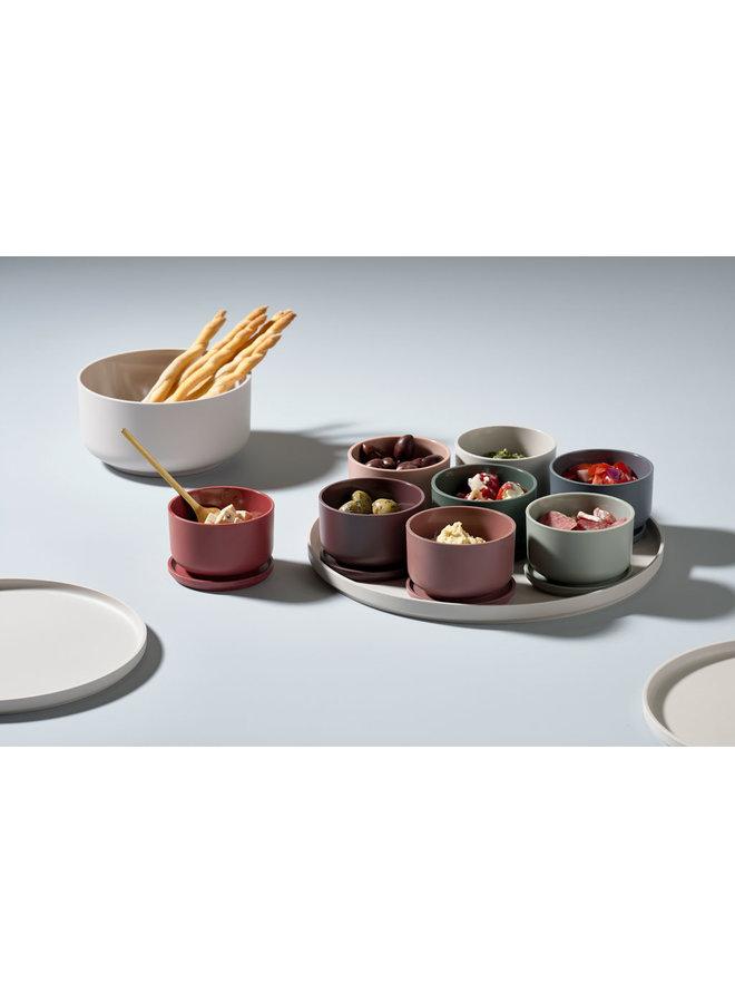 bowl Peili soft grey 24 cm diameter, 2 liter capacity