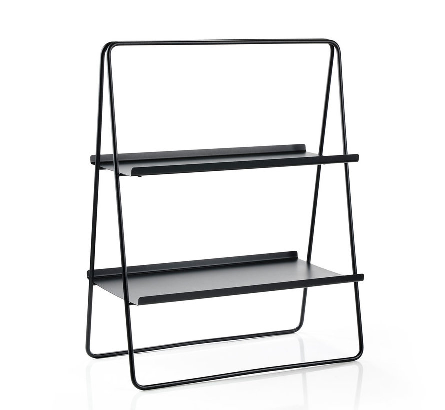 black metal side table A-table