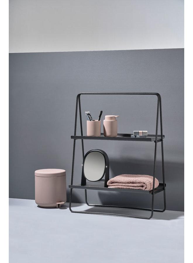 schwarzer Metall-Beistelltisch A-Tisch